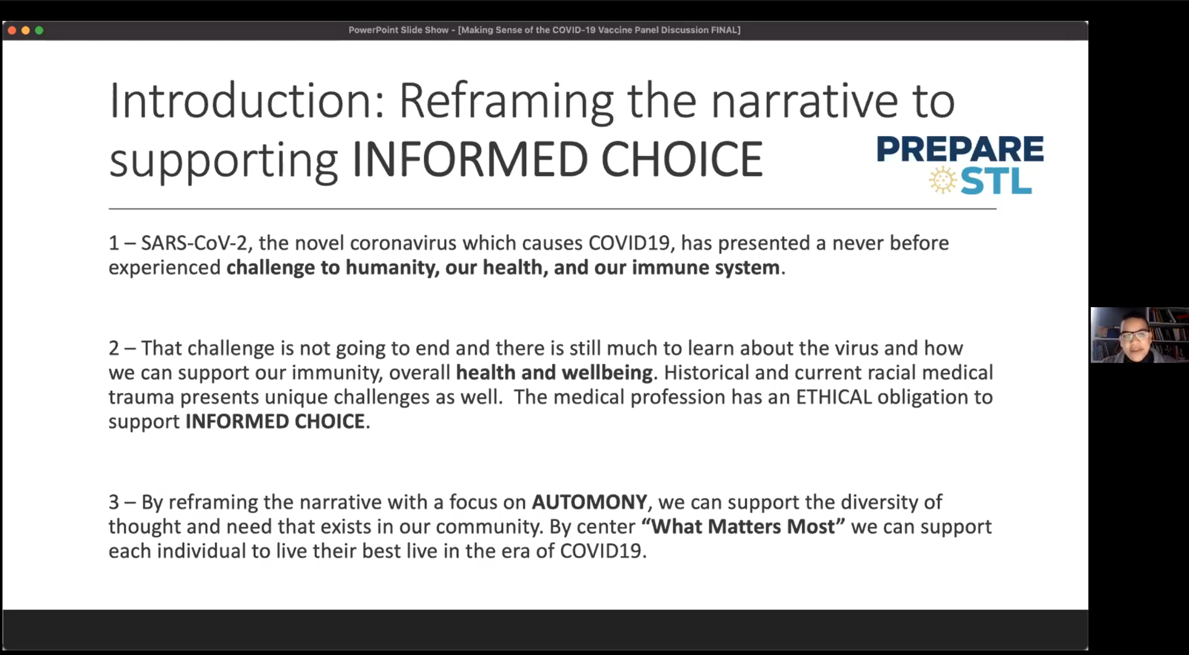 1 - Reframing the Narrative to support Informed Choice